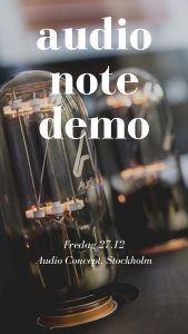 audio note demo
